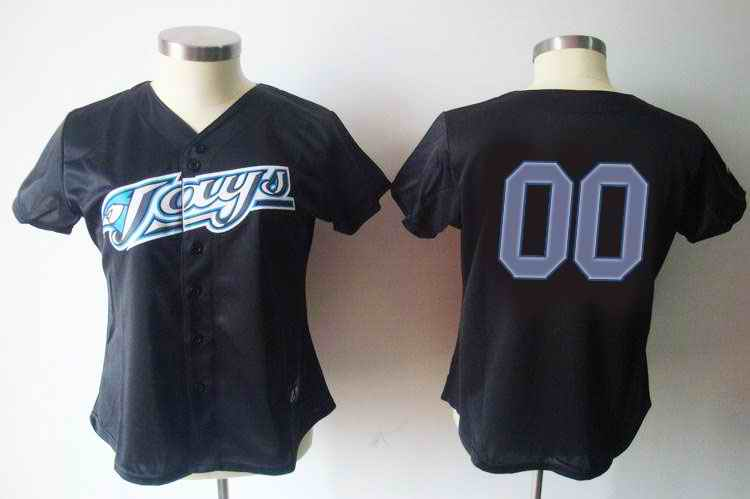 Toronto Blue Jays Blank Black Women Custom Jerseys