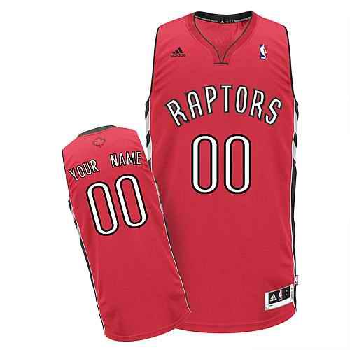 Toronto Raptors Custom Swingman red Road Jersey