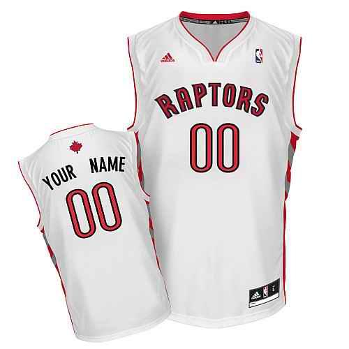 Toronto Raptors New Custom white adidas Home Jersey