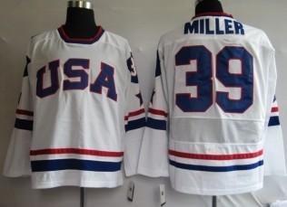 USA 39 MILLER White Jerseys