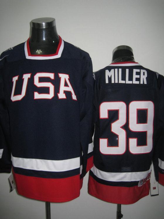 USA 39 Miller Blue Flat Jerseys