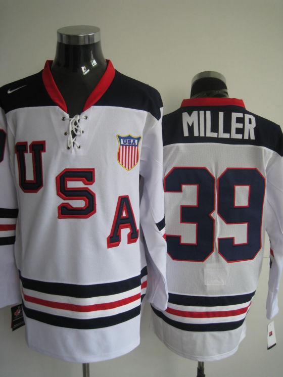 USA 39 Miller White Jerseys slant