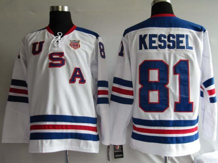 USA 81 Kessel White Jerseys