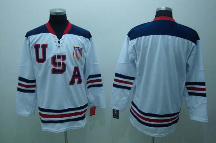 USA Blank White Jerseys