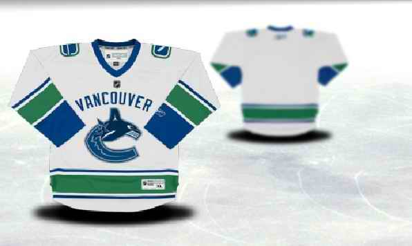Vancouver Canucks Youth Customized White Jersey
