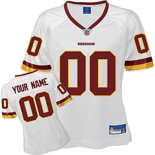 Washington Redskins Women Customized White Jersey