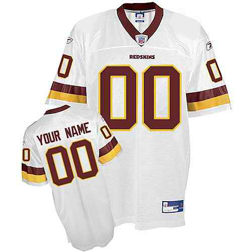 Washington Redskins Youth Customized White Jersey