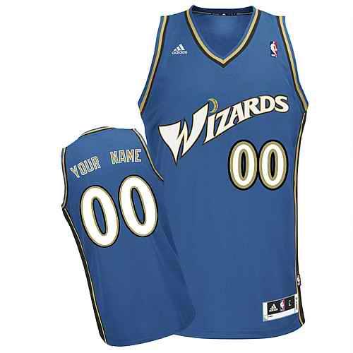 Washington Wizards Custom Swingman blue Road Jersey