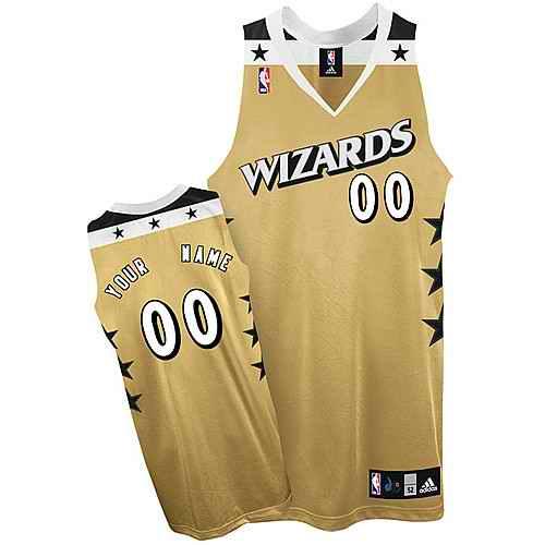 Washington Wizards Custom golden Alternate Jersey