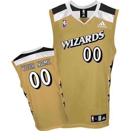 Washington Wizards Custom golden adidas Alternate Jersey