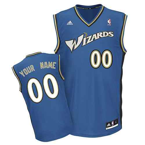 Washington Wizards Youth Custom blue V-neck Jersey