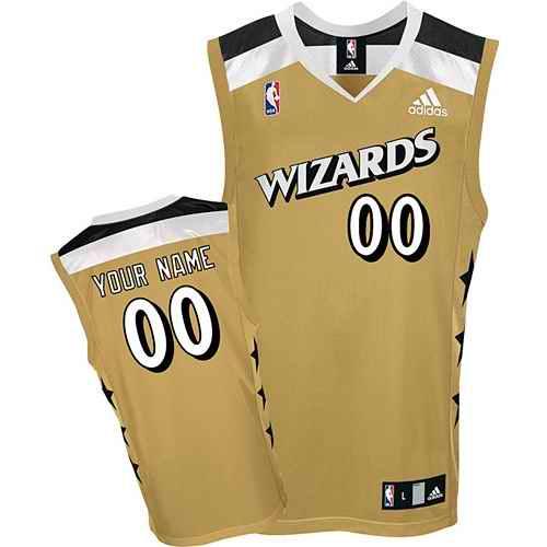 Washington Wizards Youth Custom golden Jersey