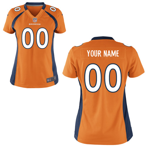 Women's Nike Denver Broncos Customized Game Team Color Jersey