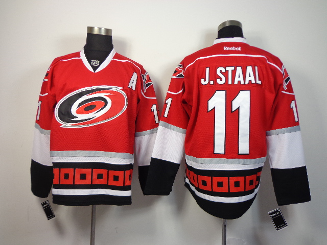 Hurricanes 11 J.Staal Red Jerseys