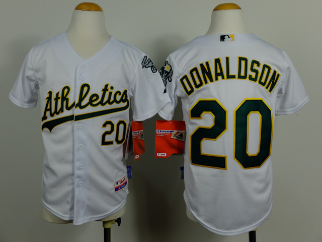 Athletics 20 Donaldson White Youth Jersey