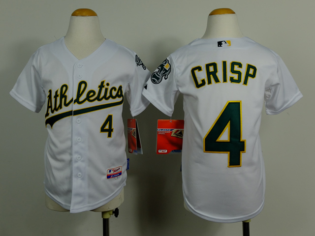 Athletics 4 Crisp White Youth Jersey