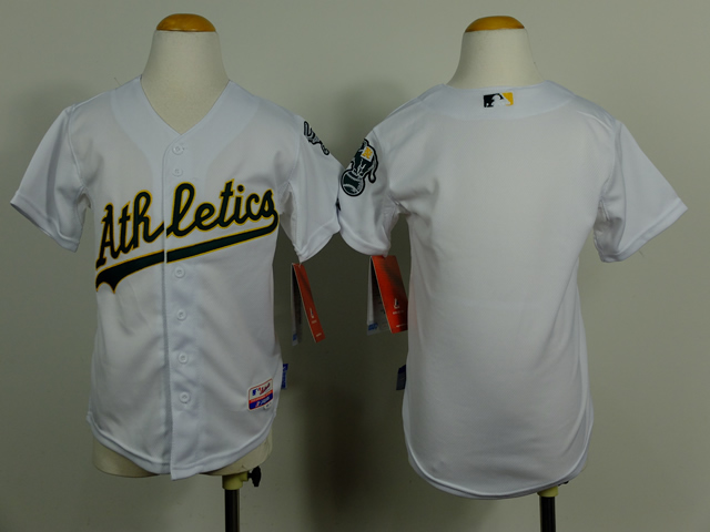 Athletics Blank White Youth Jersey