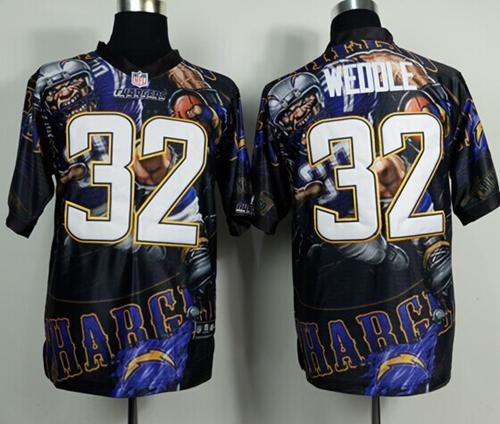 Nike Chargers 32 Weddle Stitched Elite Fanatical Version Jerseys