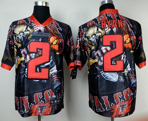Nike Falcons 2 Ryan Stitched Elite Fanatical Version Jerseys