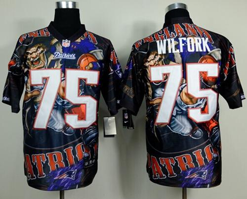 Nike Patriots 75 Wilfork Stitched Elite Fanatical Version Jerseys