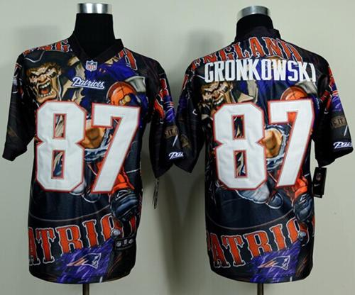 Nike Patriots 87 Gronkowski Stitched Elite Fanatical Version Jerseys