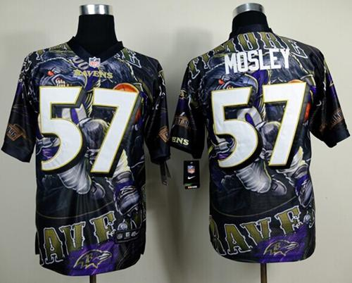Nike Ravens 57 Mosley Stitched Elite Fanatical Version Jerseys