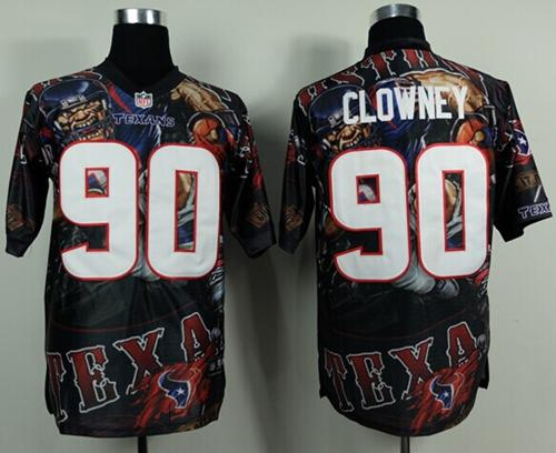 Nike Texans 90 Clowney Stitched Elite Fanatical Version Jerseys