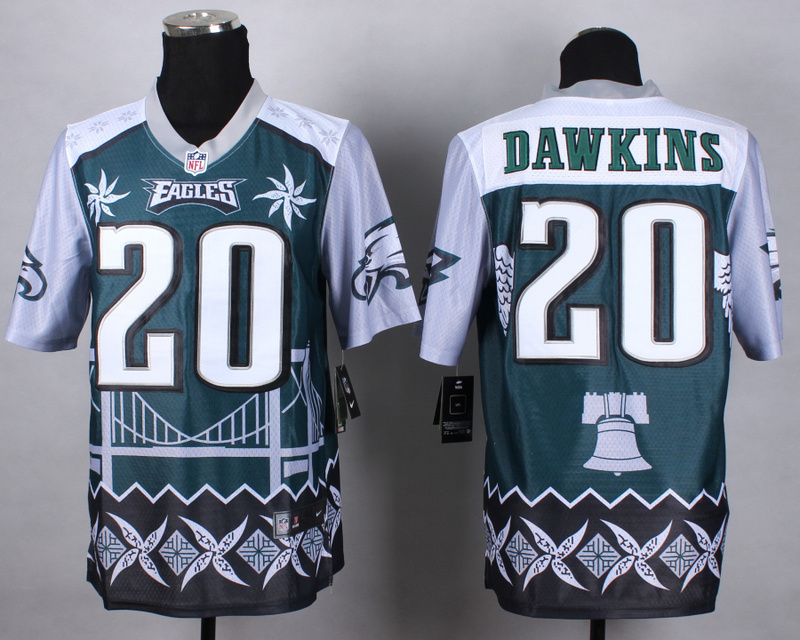 Nike Eagles 20 Dawkins Noble Elite Jerseys