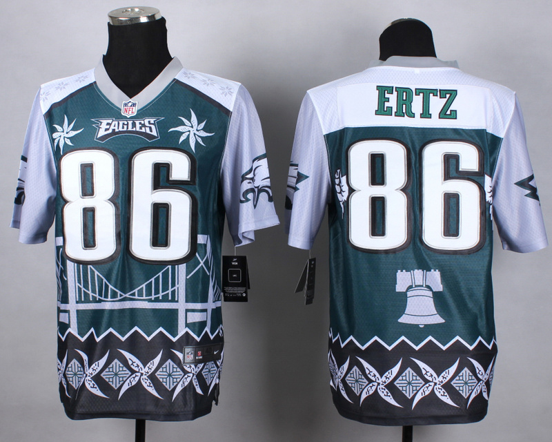 Nike Eagles 86 Ertz Noble Elite Jerseys