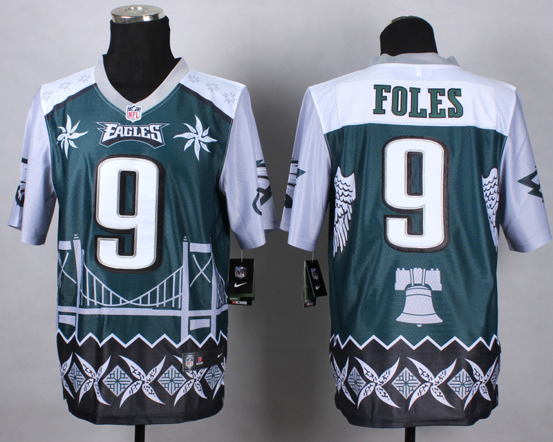 Nike Eagles 9 Foles Noble Elite Jerseys