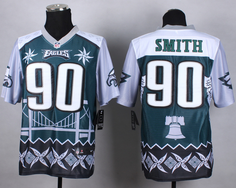 Nike Eagles 90 Smith Noble Elite Jerseys