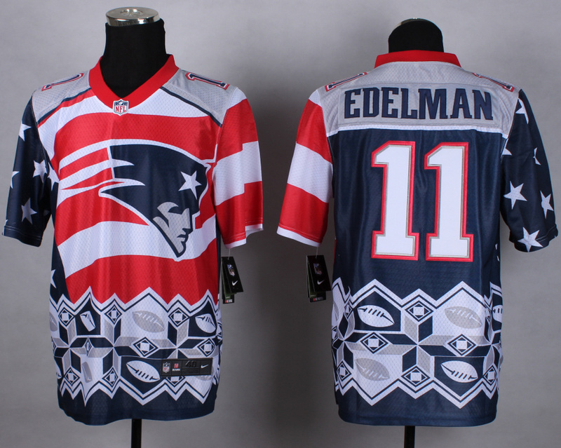 Nike Patriots 11 Edelman Noble Elite Jerseys
