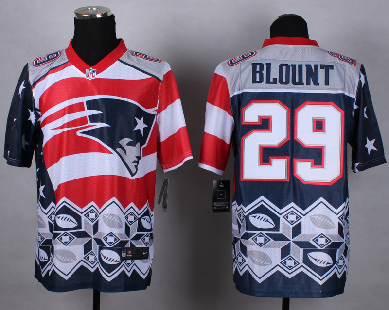Nike Patriots 29 Blount Noble Elite Jerseys