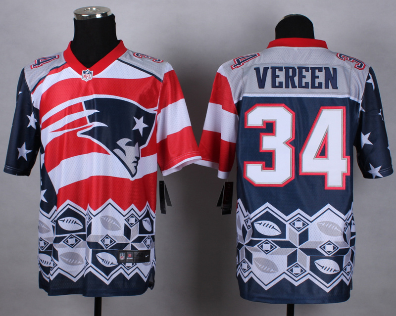 Nike Patriots 34 Vereen Noble Elite Jerseys