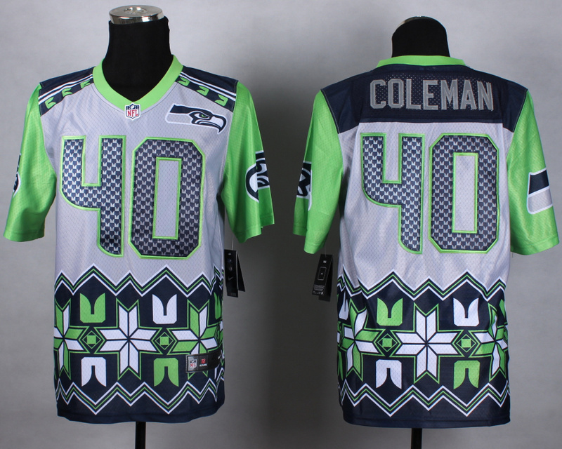 Nike Seahawks 40 Coleman Noble Elite Jerseys