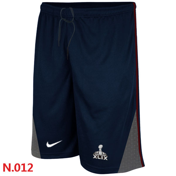New England Patriots Majestic Dark Blue Super Bowl XLIX Classic Shorts