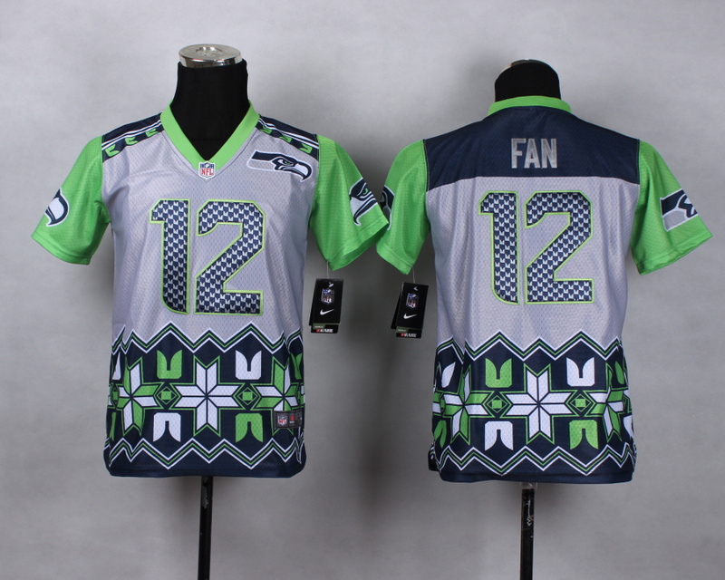 Nike Seahawks 12 Fan Noble Fashion Youth Jerseys