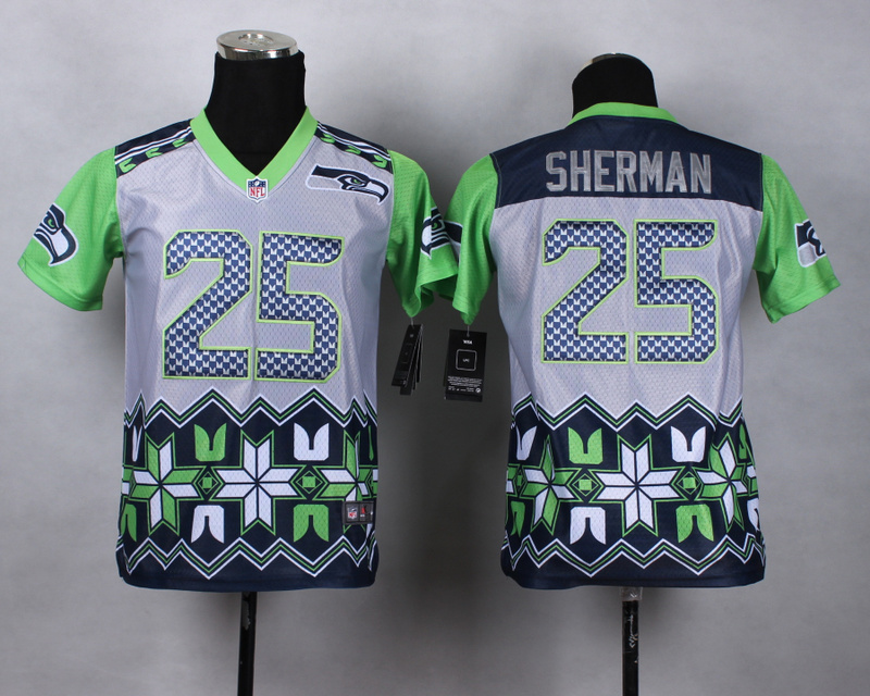 Nike Seahawks 25 Sherman Noble Fashion Youth Jerseys