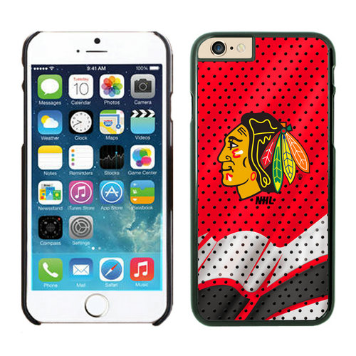 Chicago Blackhawks iPhone 6 Cases Black