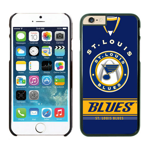St.Louis Blues iPhone 6 Cases Black02