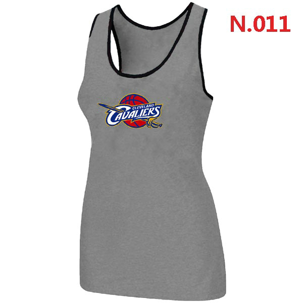 Cleveland Cavaliers Big & Tall Primary Logo Women Grey Tank Top