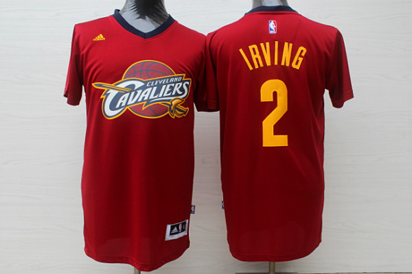 Cavaliers 2 Irving Red Short Sleeve Jersey