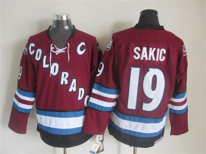 Avalanche 19 Sakic Red C Patch Jersey