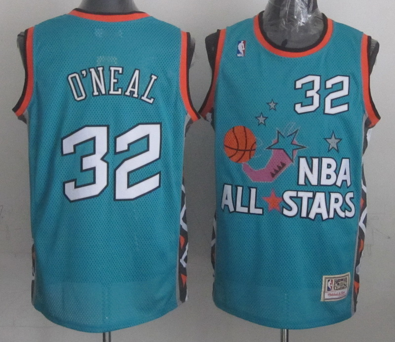 1996 All Star 32 O Neal Teal Jerseys