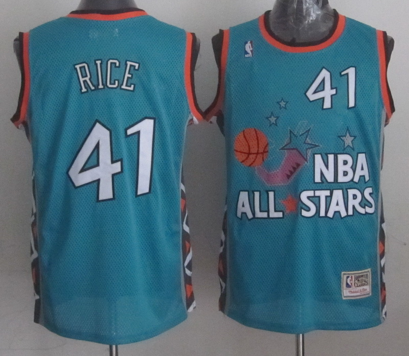 1996 All Star 41 Rice Teal Jerseys
