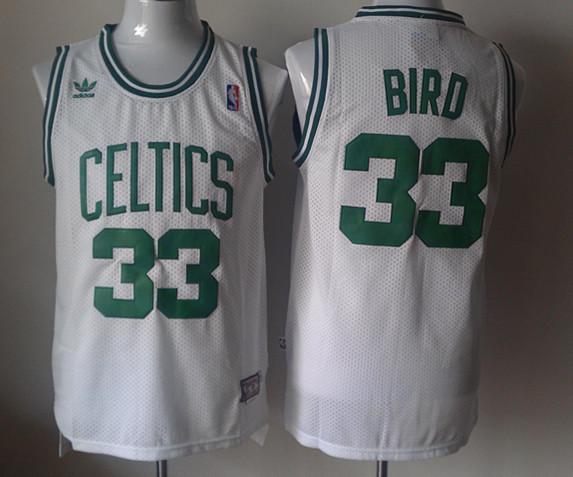Celtics 33 Larry Bird White Throwback Jersey