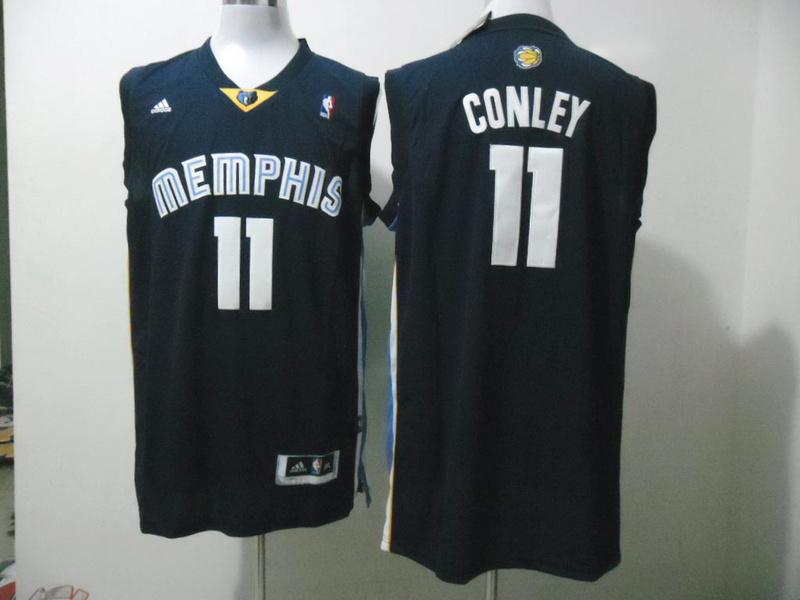 Grizzlies 11 Conley Dark Blue New Revolution 30 Jerseys