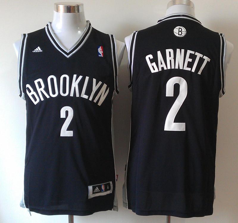 Nets 2 Garnett Black New Revolution 30 Jerseys