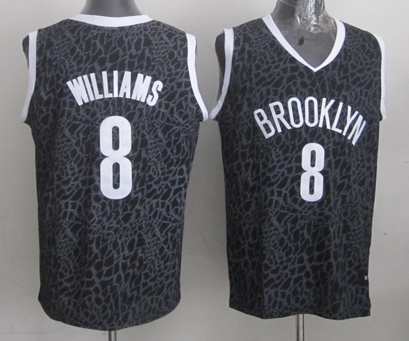 Nets 8 Williams Black Crazy Light Swingman Jerseys