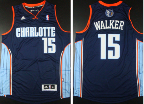 Bobcats 15 Kemba Walker Blue Revolution 30 Swingman Jerseys